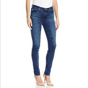 AG Prima Mid-Rise Cigarette Blue Jeans Size 26R